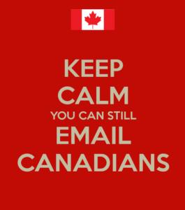Keep calm Canada
