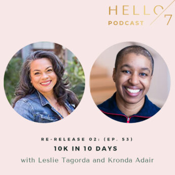 Hello Seven with Rachel Rodgers   10K in 10 Days with Kronda Adair and Leslie Tagorda